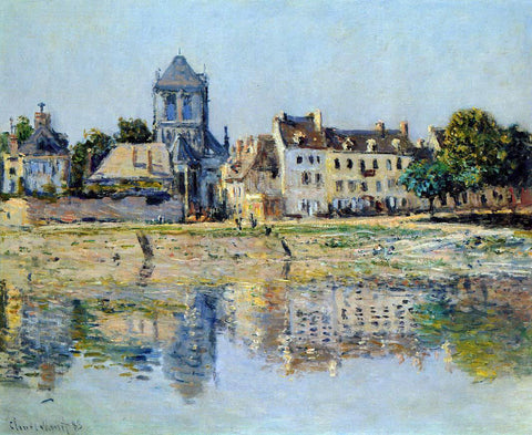 Claude Oscar Monet By the River at Vernon - Hand Painted Oil Painting