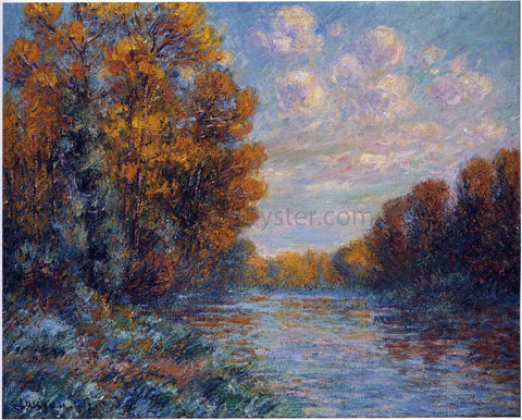 Gustave Loiseau By the River in Autumn - Hand Painted Oil Painting