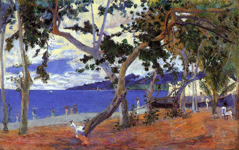 Paul Gauguin By the Seashore - Hand Painted Oil Painting