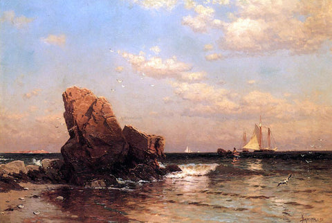 Alfred Thompson Bricher By the Shore - Hand Painted Oil Painting