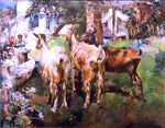 Jose Navarro Llorens Cabras - Hand Painted Oil Painting