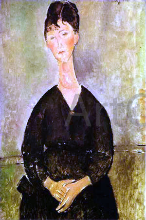 Amedeo Modigliani Cafe Singer - Hand Painted Oil Painting