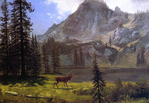 Albert Bierstadt Call of the Wild - Hand Painted Oil Painting