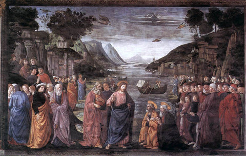 Domenico Ghirlandaio Calling of the First Apostles - Hand Painted Oil Painting