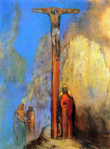 Odilon Redon Calvary - Hand Painted Oil Painting