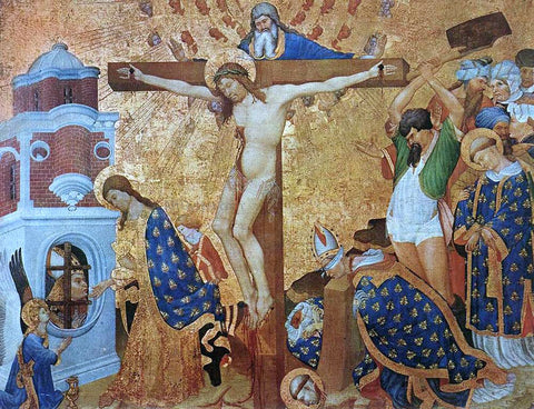 Jean Malouel Calvary and the Martyrdom of St Denis - Hand Painted Oil Painting