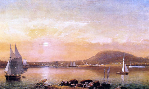 Fitz Hugh Lane Camden Mountains and Harbor from the North Point of Negro Island - Hand Painted Oil Painting