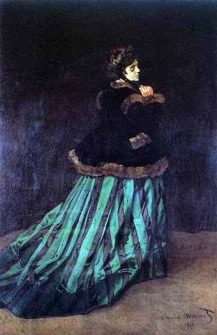 Claude Oscar Monet Camille (also known as The Woman in a Green Dress) - Hand Painted Oil Painting
