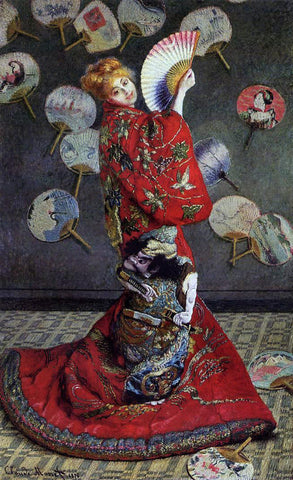 Claude Oscar Monet Camille Monet in Japanese Costume - Hand Painted Oil Painting