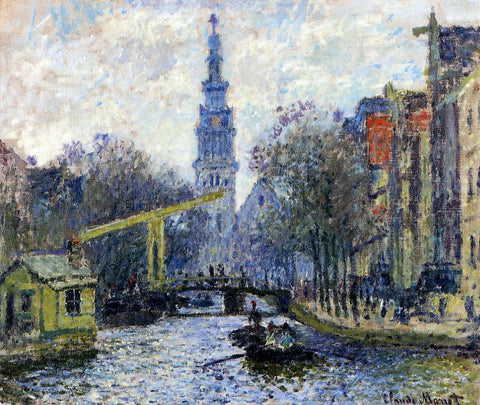 Claude Oscar Monet Canal in Amsterdam - Hand Painted Oil Painting