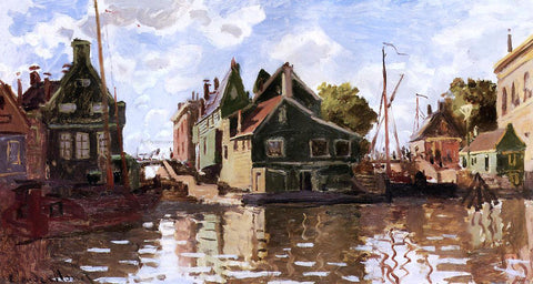Claude Oscar Monet Canal in Zaandam - Hand Painted Oil Painting
