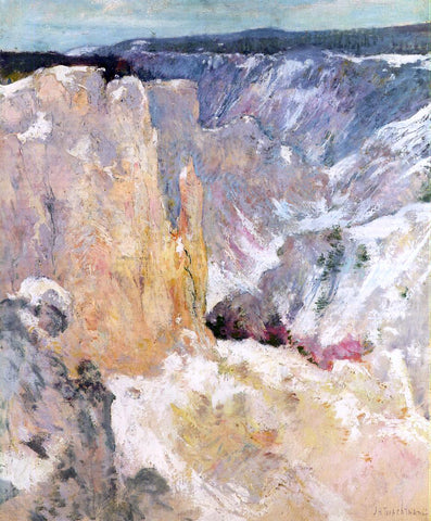 John Twachtman Canyon in the Yellowstone - Hand Painted Oil Painting