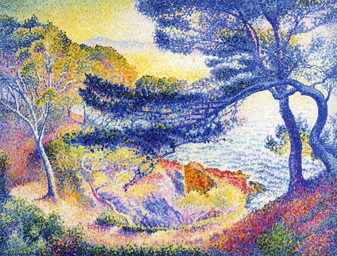 Henri Edmond Cross Cape Layet, Provence - Hand Painted Oil Painting
