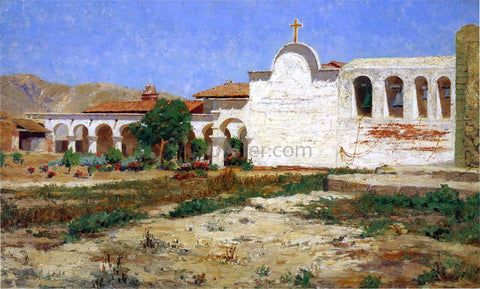 Elmer Wachtel Capistrano Mission - Hand Painted Oil Painting