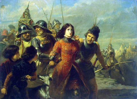 Adolphe-Alexandre Dillens Capture of Joan of Arc - Hand Painted Oil Painting