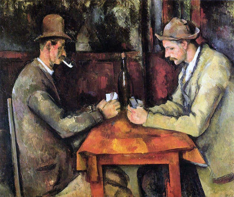 Paul Cezanne Cardplayers - Hand Painted Oil Painting