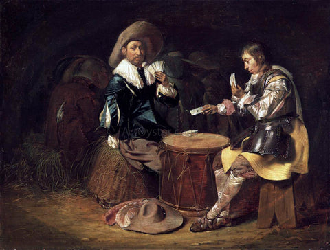 Willem Cornelisz Duyster Card-Playing Soldiers - Hand Painted Oil Painting