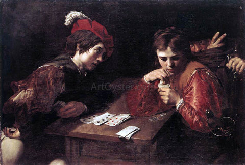 Valentin De boulogne Card-sharpers - Hand Painted Oil Painting