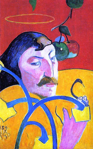 Paul Gauguin Caricature, Self Portrait - Hand Painted Oil Painting