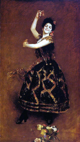 William Merritt Chase Carmencita - Hand Painted Oil Painting