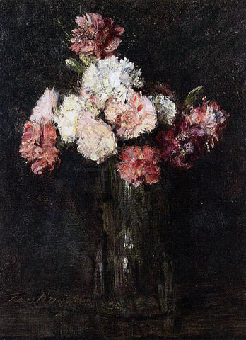 Henri Fantin-Latour Carnations in a Champagne Glass - Hand Painted Oil Painting