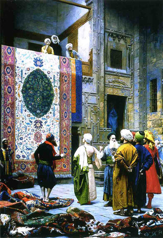 Jean-Leon Gerome Carpet Merchant in Cairo - Hand Painted Oil Painting