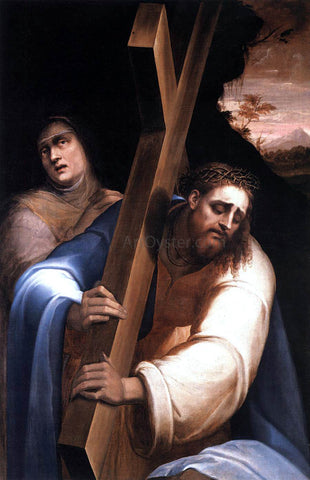Giovanni De' Vecchi Carrying the Cross - Hand Painted Oil Painting