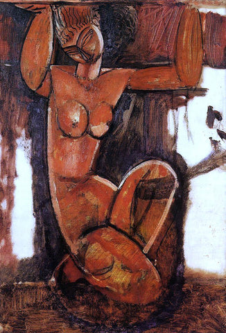 Amedeo Modigliani Caryatid - Hand Painted Oil Painting