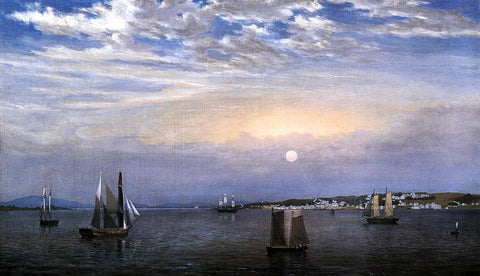 Fitz Hugh Lane Castine - Hand Painted Oil Painting