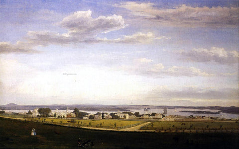 Fitz Hugh Lane Castine from Fort George - Hand Painted Oil Painting