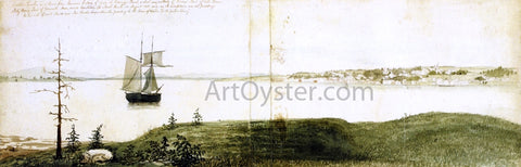 Fitz Hugh Lane Castine Harbor and Town - Hand Painted Oil Painting