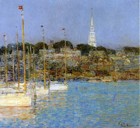 Frederick Childe Hassam Cat Boats, Newport - Hand Painted Oil Painting