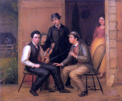 William Sidney Mount Catching the Tune - Hand Painted Oil Painting