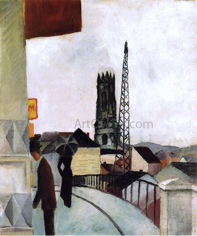 August Macke Cathedral at Freiburg, Switzerland - Hand Painted Oil Painting