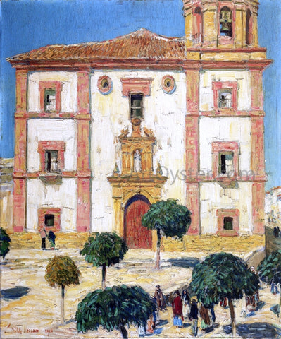 Frederick Childe Hassam Cathedral at Ronda - Hand Painted Oil Painting