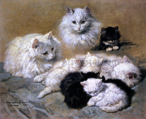 Henriette Ronner-Knip Cats and Kittens - Hand Painted Oil Painting