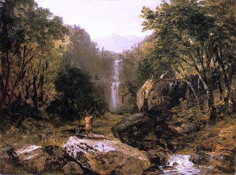 John Frederick Kensett Catskill Mountain Scenery - Hand Painted Oil Painting