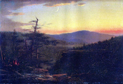 John Adams Parker Catskill Mountains at Sunset - Hand Painted Oil Painting