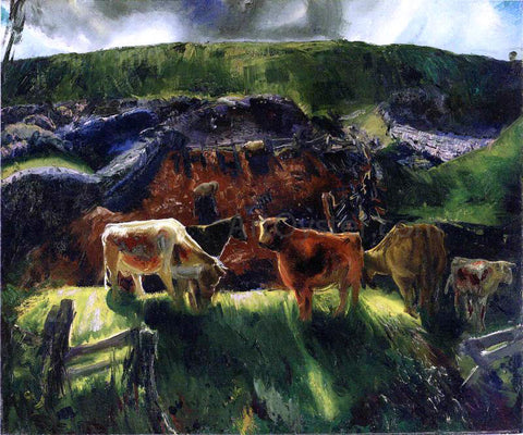George Wesley Bellows Cattle and Pig Pen - Hand Painted Oil Painting