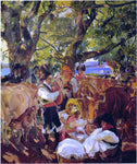 Joaquin Sorolla Y Bastida Cattle Fair at Galicia - Hand Painted Oil Painting