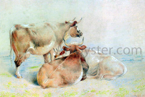 William Huggins Cattle Resting (2 of 2) - Hand Painted Oil Painting