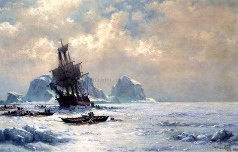 William Bradford Caught in the Ice - Hand Painted Oil Painting