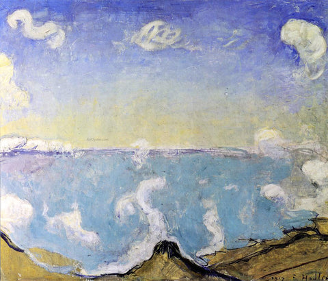 Ferdinand Hodler Caux Landscape with Rising Clouds - Hand Painted Oil Painting