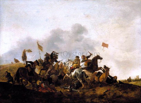 Philips Wouwerman Cavalry Skirmish - Hand Painted Oil Painting
