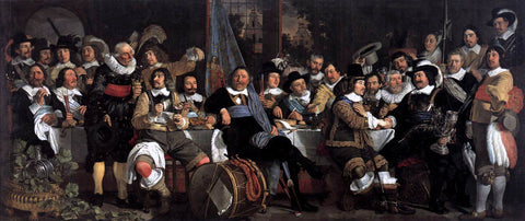 Bartholomeus Van der Helst Celebration of the Peace of Munster, 1648, at the Crossbowmen's Headquarters - Hand Painted Oil Painting