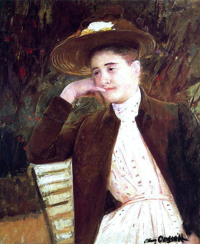 Mary Cassatt Celeste in a Brown Hat - Hand Painted Oil Painting