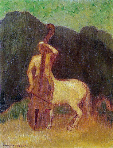 Odilon Redon Centaur with Cello - Hand Painted Oil Painting