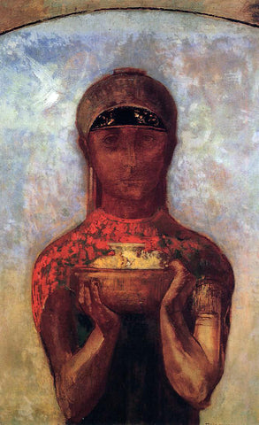 Odilon Redon Chalice of Mystery - Hand Painted Oil Painting