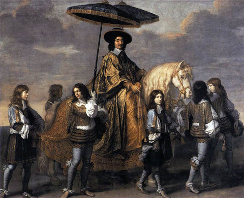 Charles Le Brun Chancellor Seguier at the Entry of Louis XIV into Paris - Hand Painted Oil Painting