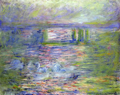Claude Oscar Monet Charing Cross Bridge - Hand Painted Oil Painting